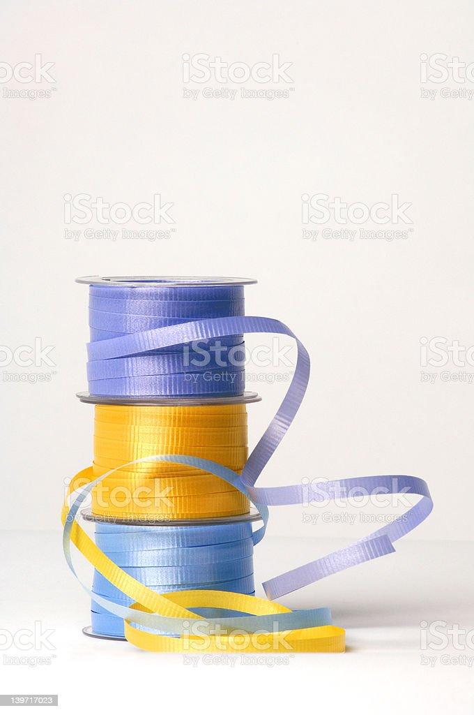 Spools of ribbon 2 stock photo