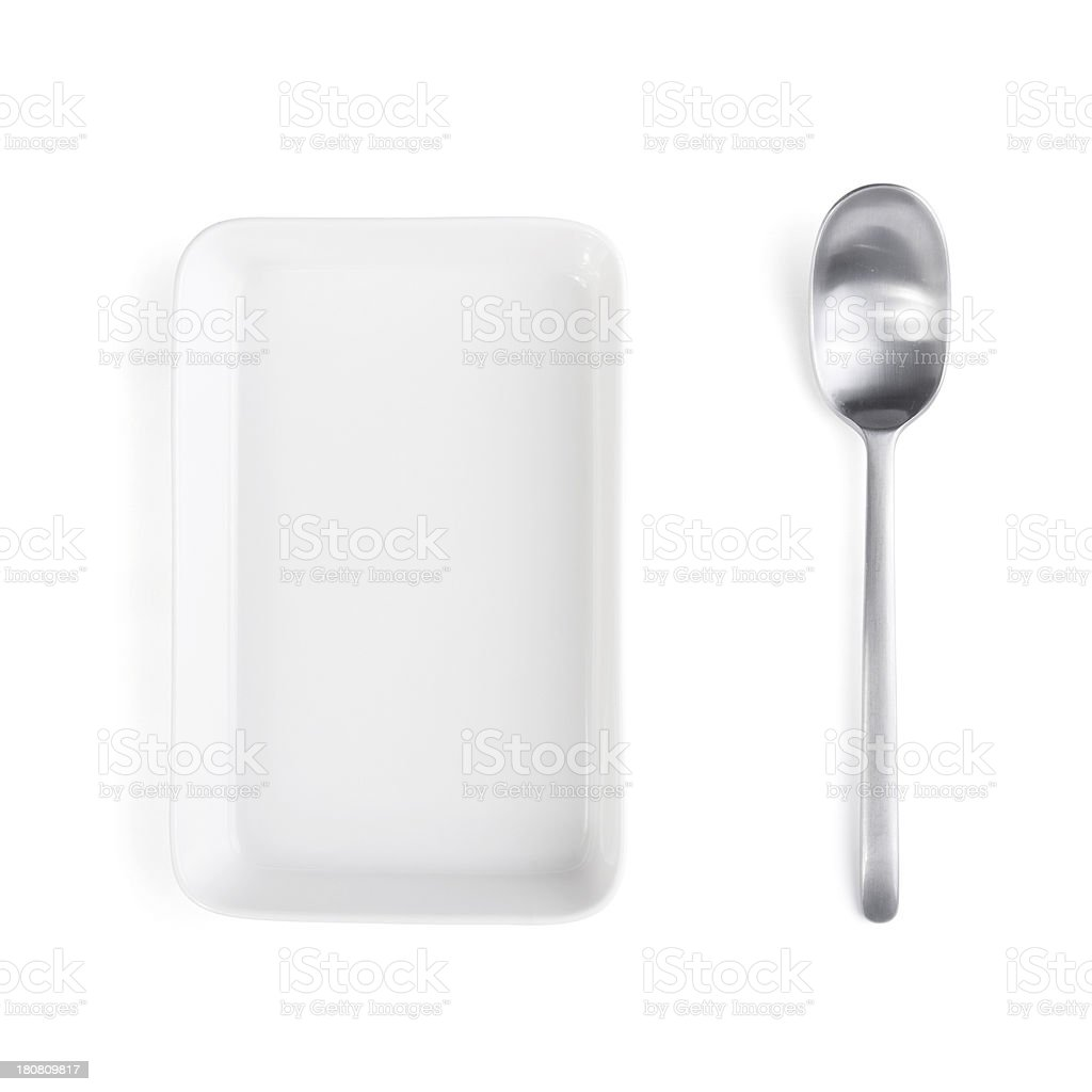 Spoon and Plate stock photo