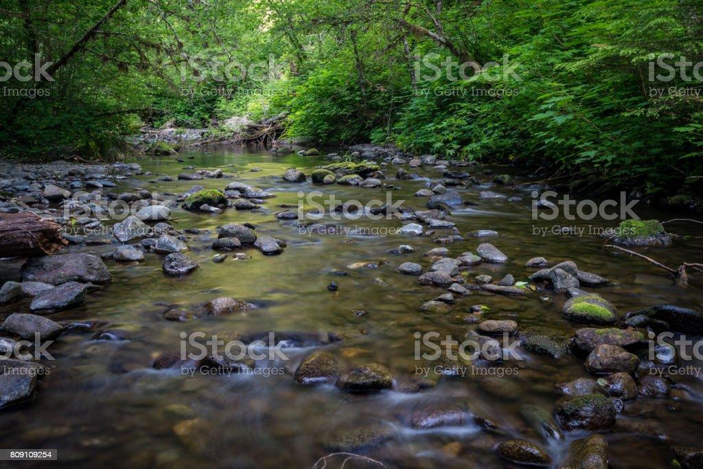 Spoon Creek Falls stock photo