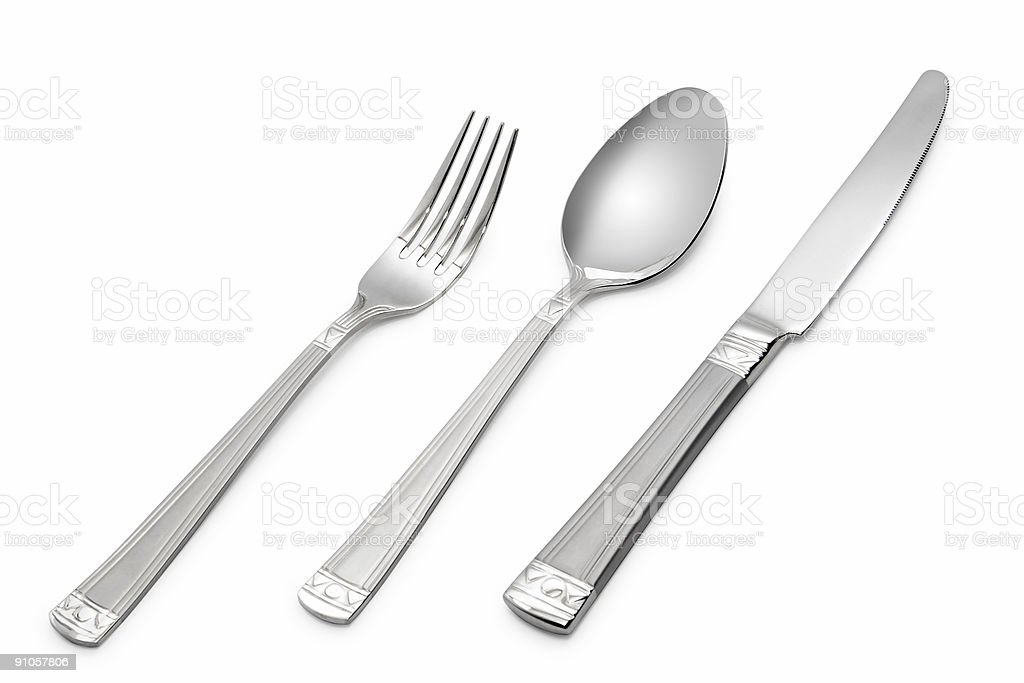 spoon, knife, fork royalty-free stock photo