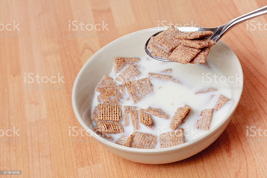 Spoon of cereal stock photo