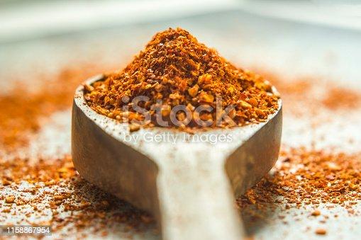 Spoon of chili powder