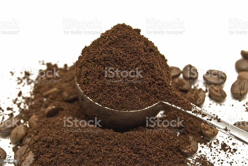 spoon of coffee royalty-free stock photo