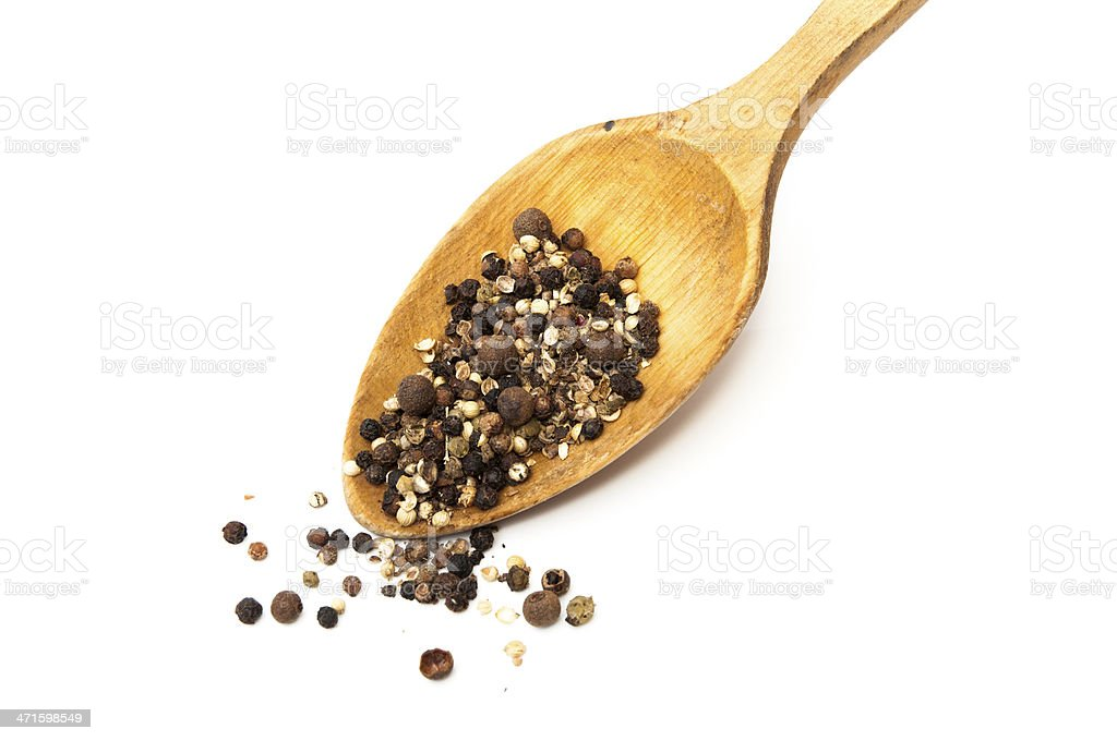 spoon with pepper royalty-free stock photo
