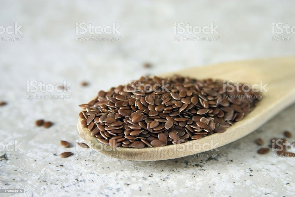 Spoonful of Flax royalty-free stock photo
