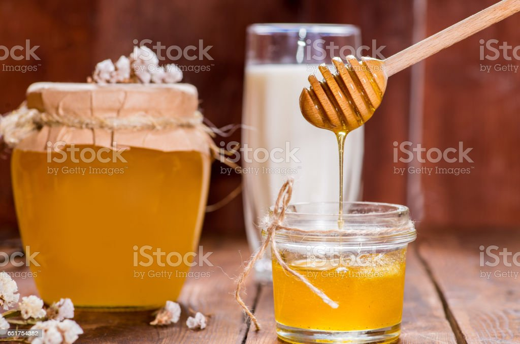 spoonful of honey stock photo