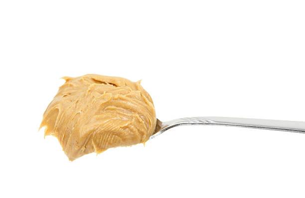 spoonful of peanut butter - peanutbutter bildbanksfoton och bilder
