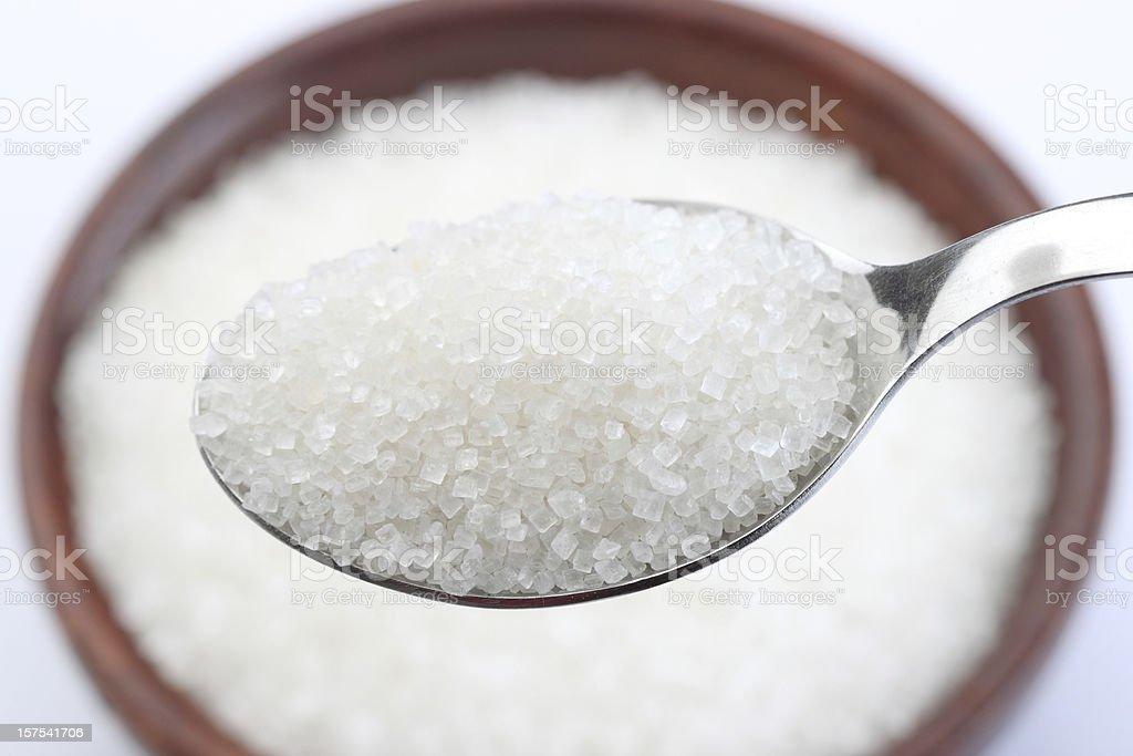 Cucharada de azúcar - Foto de stock de Alimento libre de derechos