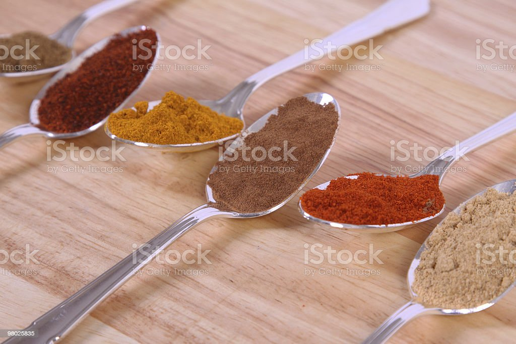 Spoons Of Spice royalty-free stock photo