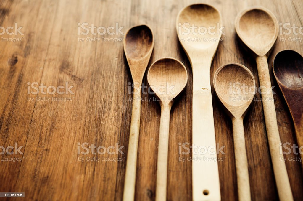 Spoons royalty-free stock photo