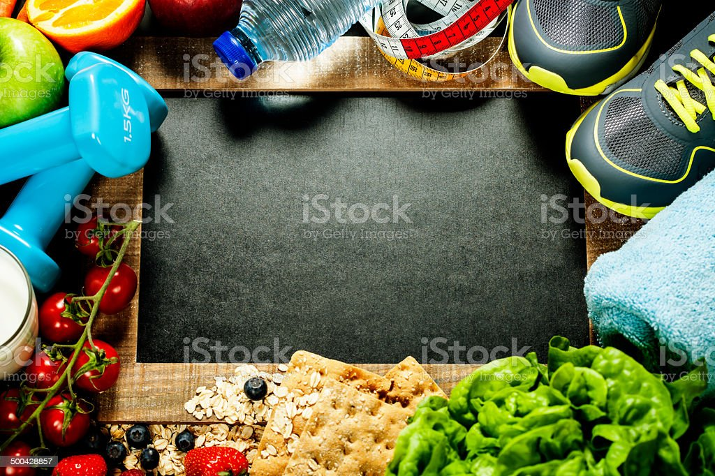 sport and diet frame stock photo