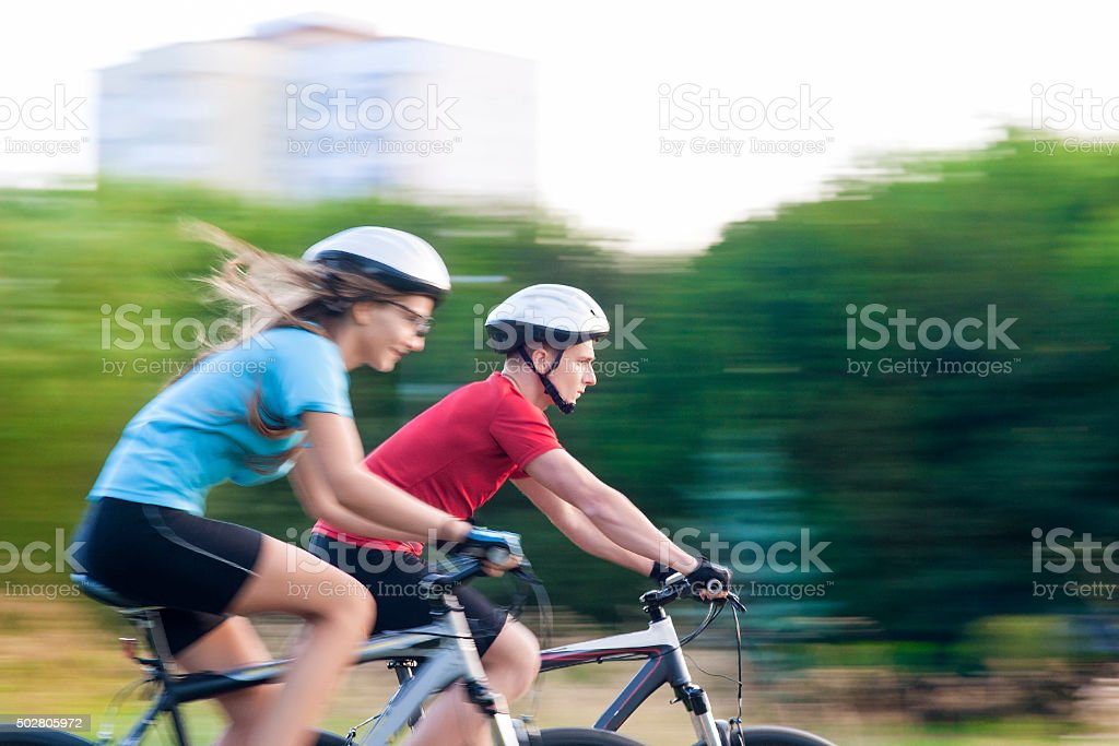 Sport and Fitness Concepts and Ideas: Young Caucasian Couple Hav stock photo