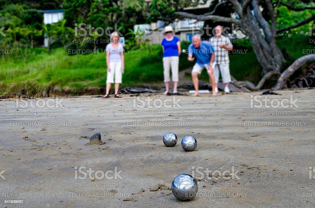 Sport and Recreation - Petanque stock photo