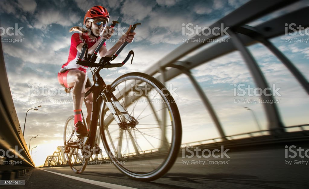 Sport background. Road cyclist. stock photo
