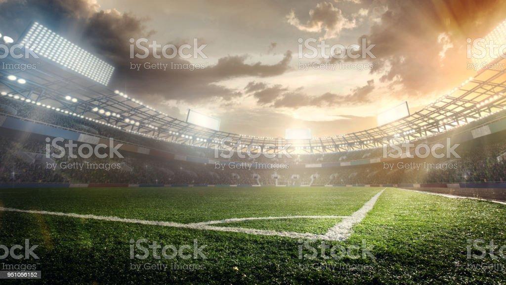 Origens do esporte. Estádio de futebol. - foto de acervo