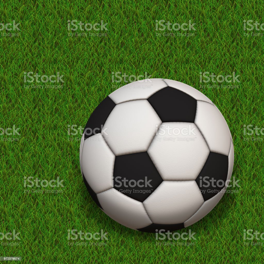 Sport Ball Soccer in the grass - seamless high resolution and quality...
