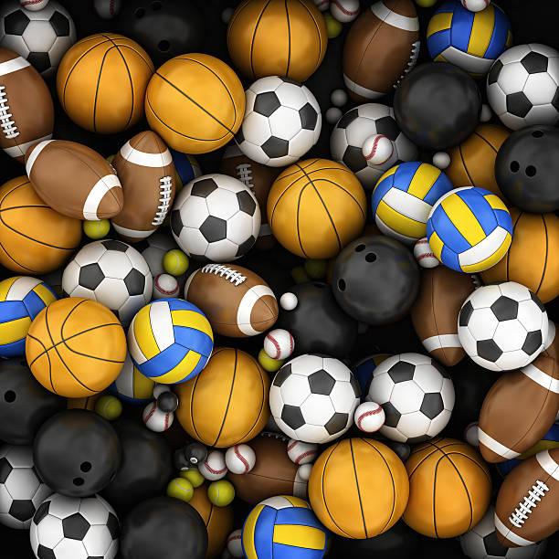 스포츠 볼 배경 스톡 사진