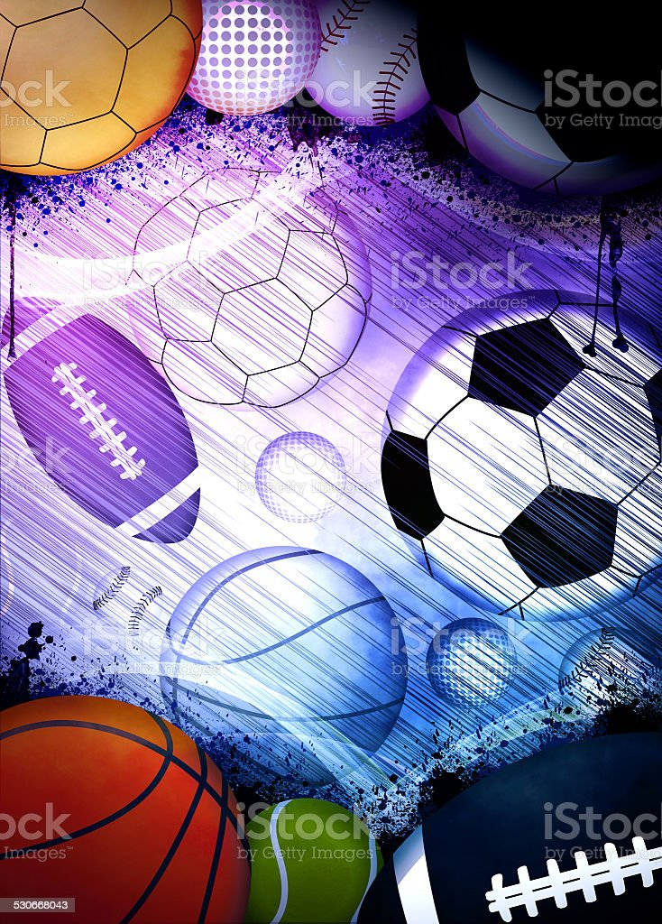 Sport balls background stock photo