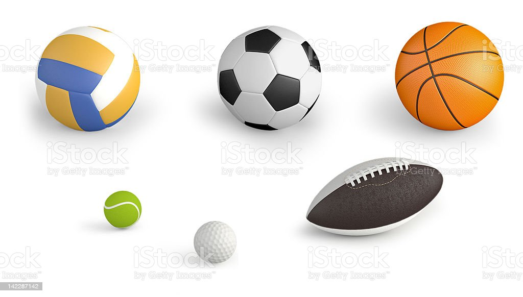 sport balls royalty-free stock photo