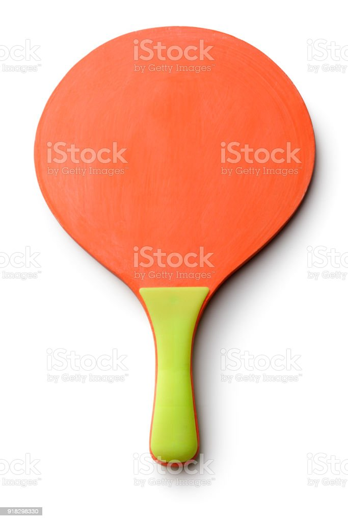 Sport: Beach Ball Bat Isolated on White Background - foto stock
