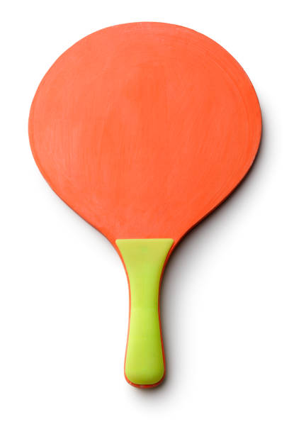 sport: beach ball bat isolated on white background - racket stock pictures, royalty-free photos & images