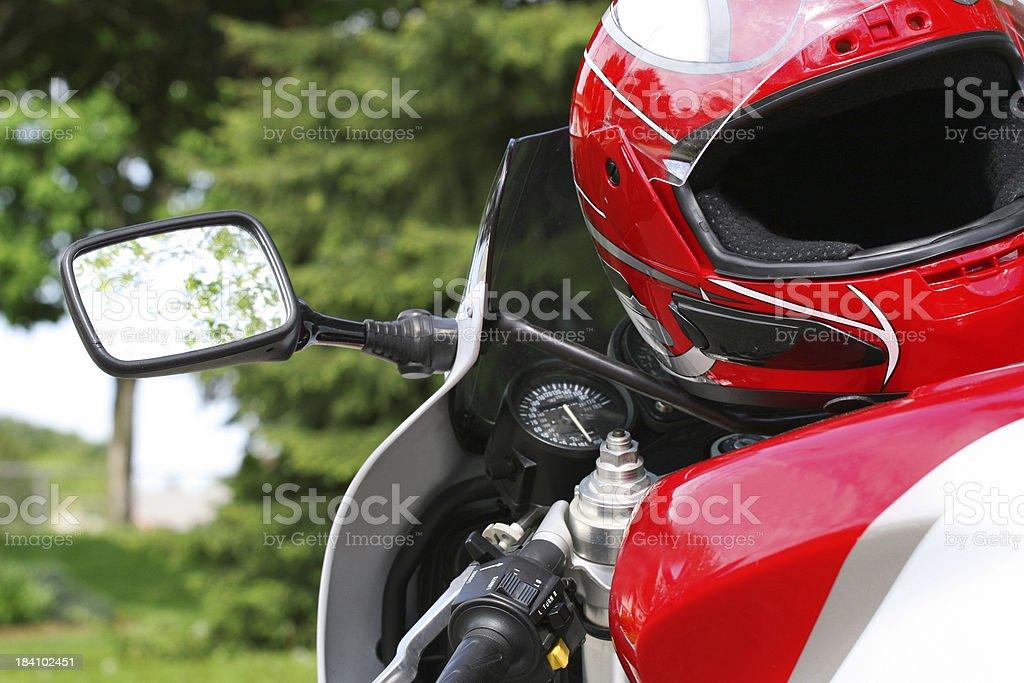 Sport Bike and Helmet stock photo