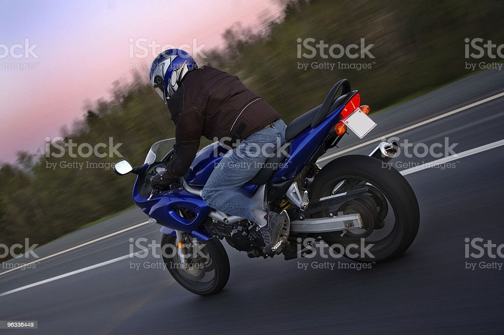 Sport Bike at Speed royalty-free stock photo