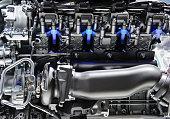 istock Sport car engine 467625132