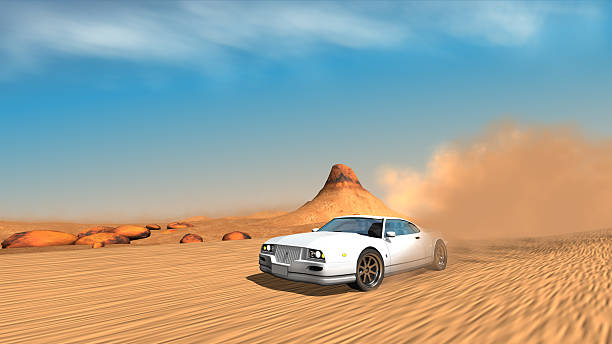sport Auto in Wüste – Foto