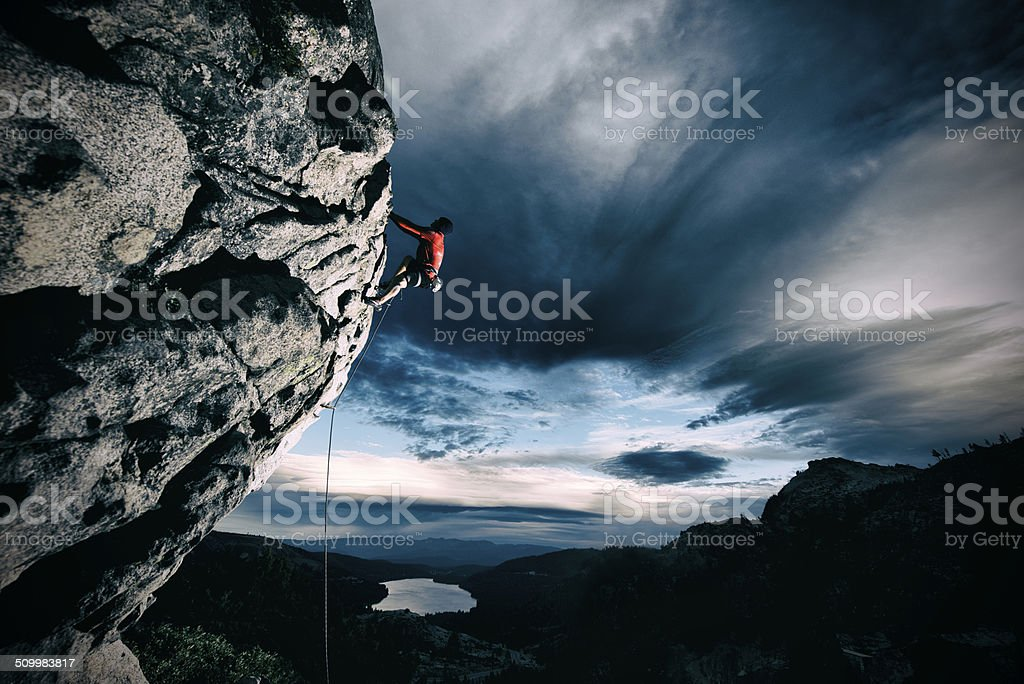 sport climbing stock photo