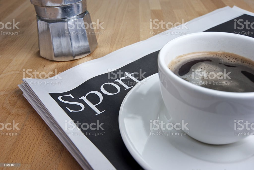Sport coffee stock photo