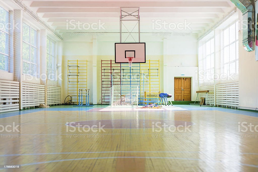 Sport complex in Russian school royalty-free stock photo