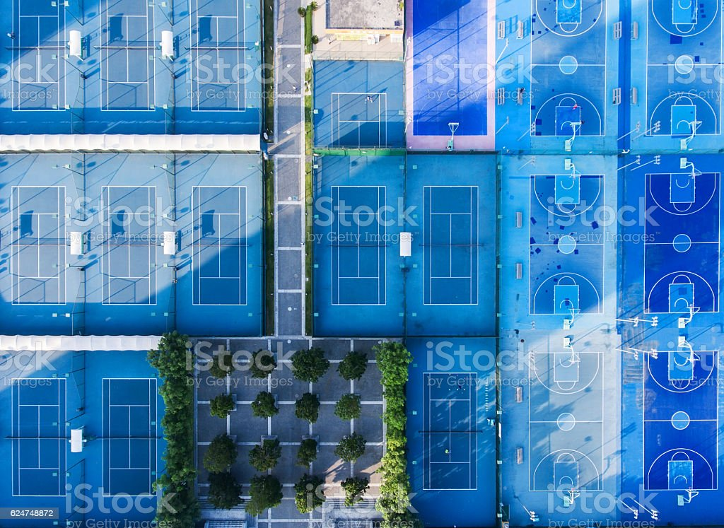 Sport courts stock photo