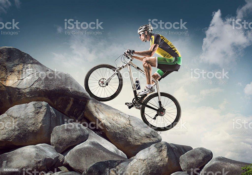 Sport. Cyclist stock photo
