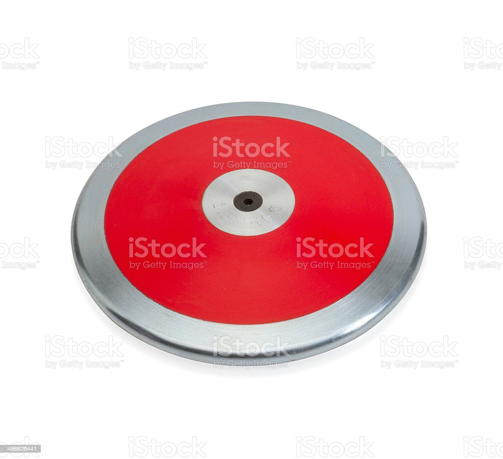 Sport discus disc the sport equipment isolated stock photo