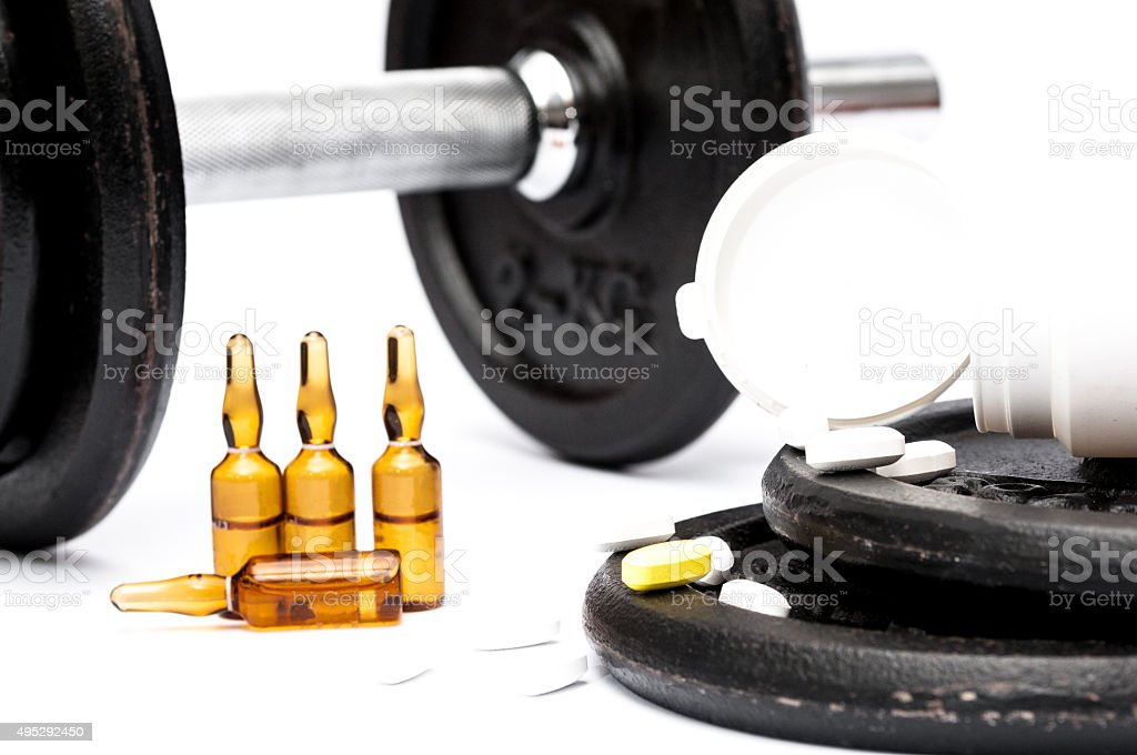Sport doping and drug abuse stock photo