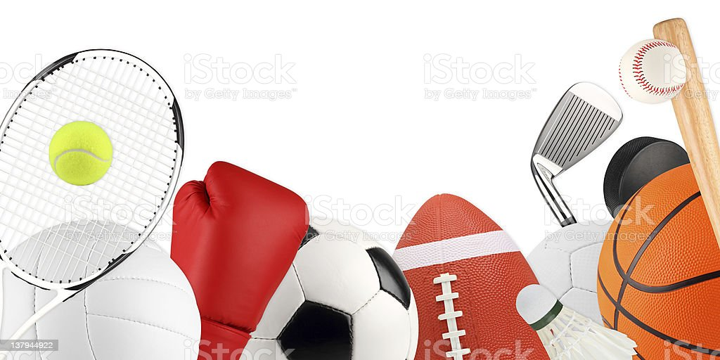 sport equipment 1 stock photo