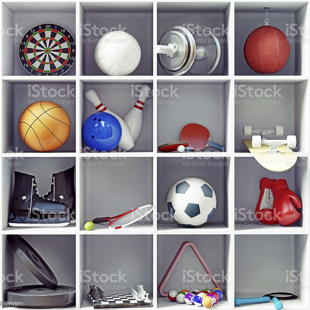 sport equipment stock photo