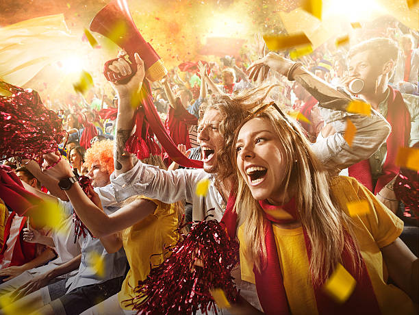 Sport fans: Group of cheering fans - Photo