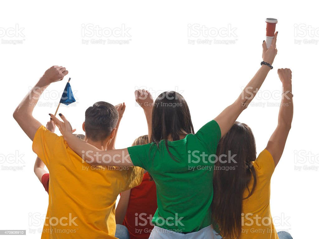 Os fãs de esporte isolada - foto de acervo
