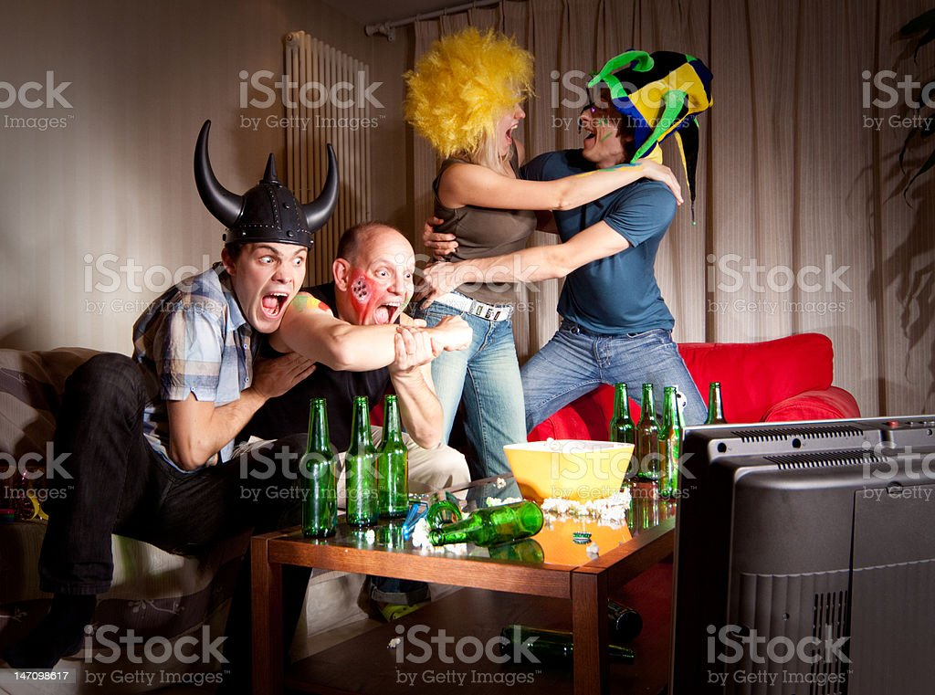 Sport fans royalty-free stock photo