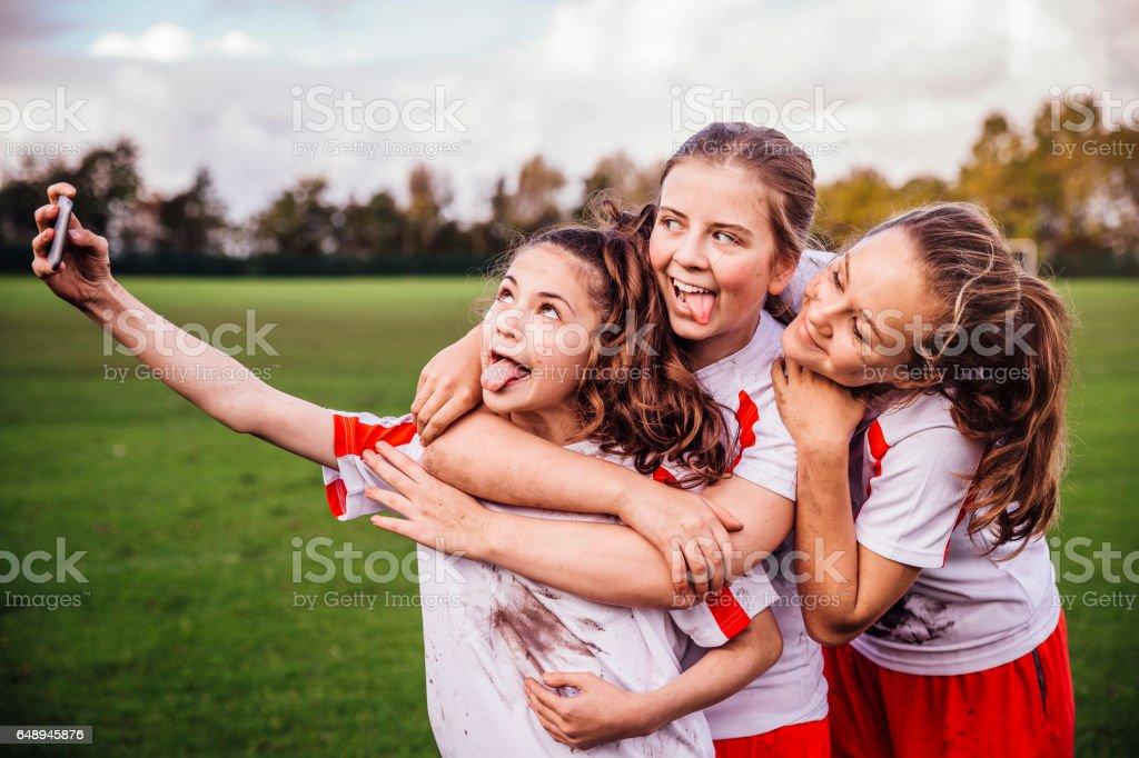 Sport Girl Selfie stock photo