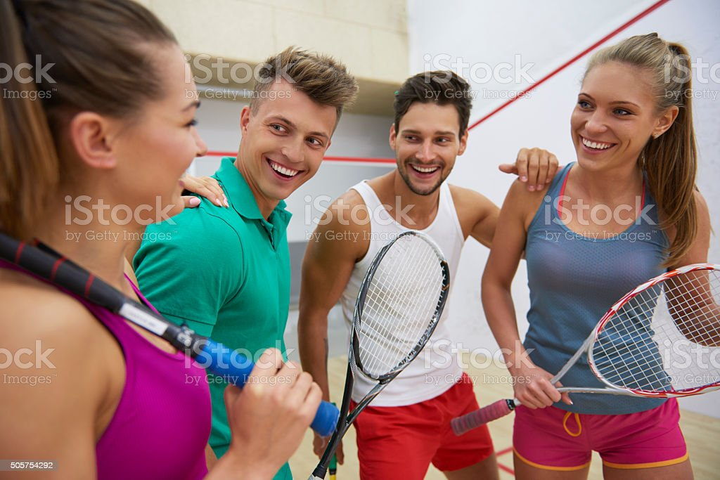 Sport gives people more energy stock photo