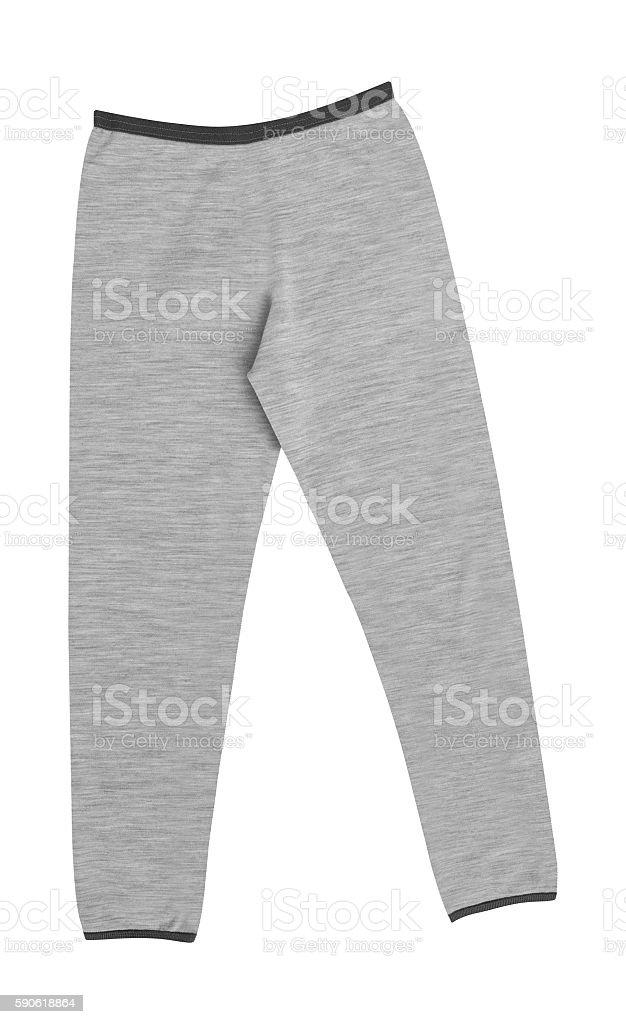 Sport gray sweatpants stock photo
