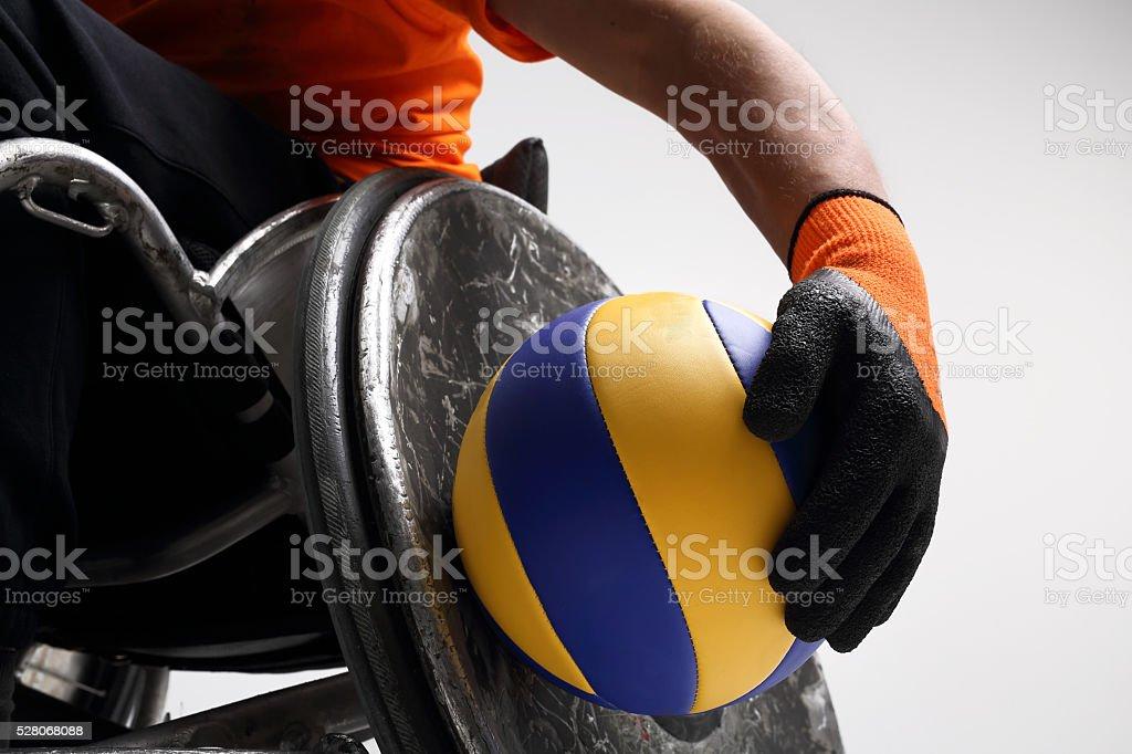 Esporte em uma cadeira de rodas - foto de acervo