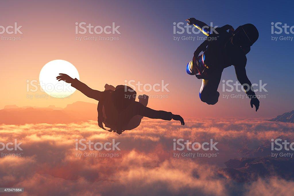 Sport in the sky. stock photo