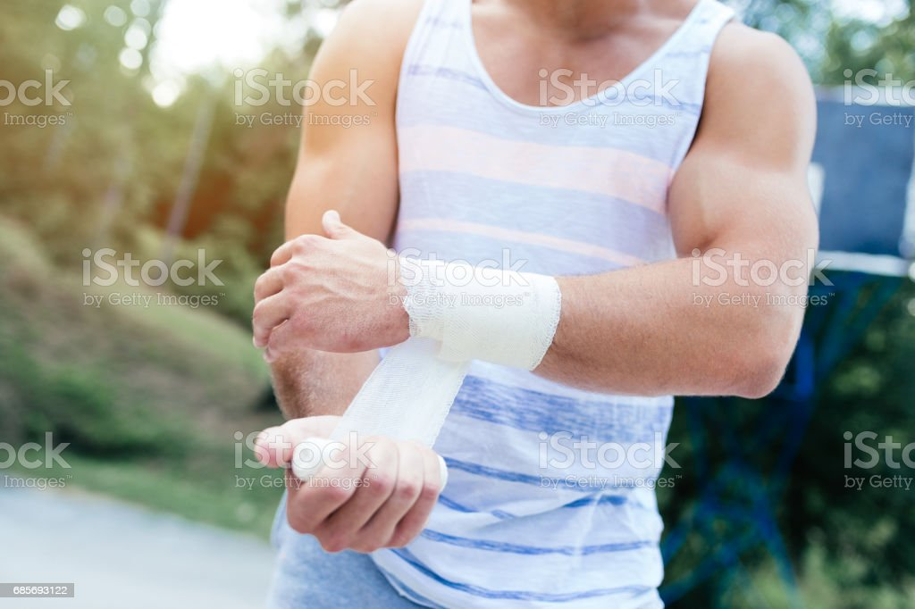 Sport injury close up royalty-free stock photo