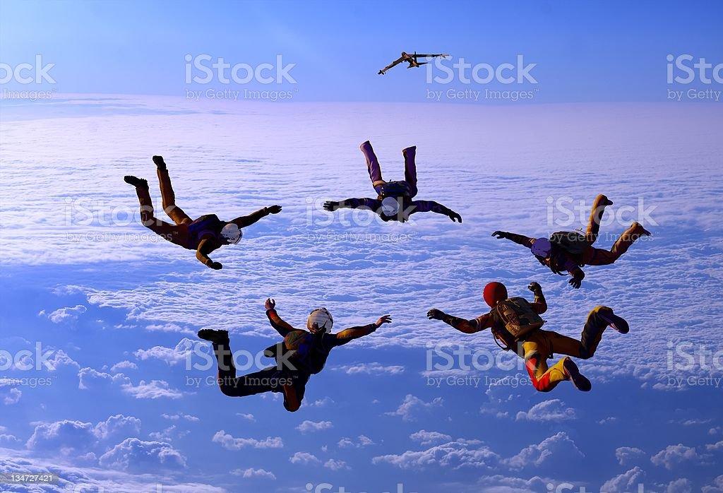 Sport is in sky stock photo
