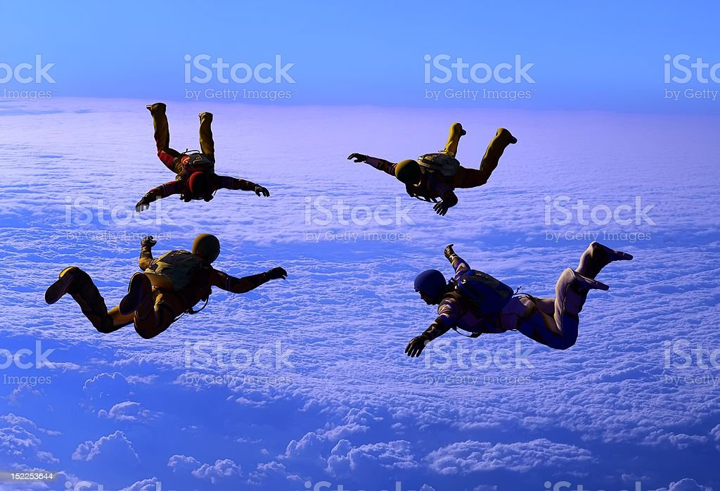 Sport is in sky royalty-free stock photo