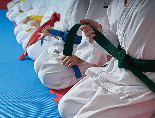 sport karate kids - karate stock photos and pictures